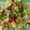 Lemony Smoked Paprika Chicken Chopped Salad with Creamy Avocado Dressing