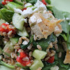 Mediterranean Spinach Salad with Farro