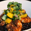 Jerk Shrimp Bowls with Black Rice and Mango Cucumber Salsa