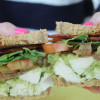 Avocado Chicken Salad Sandwiches with Heirloom Tomatoes and Applewood Smoked Bacon