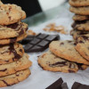 Soft and Cakey Dark Chocolate Chunk Pretzel Cookies