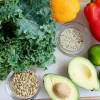 Superfood Kale Salad with Creamy Avocado Cilantro Dressing