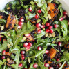 Black Rice Butternut Arugula Salad with Pomegranate + Apple Cider Vinaigrette