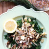 Warm Kale Salad with Broccoli Rabe, Caramelized Fennel, Roasted Parsnips + Lemon Rosemary Vinaigrette