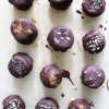 4 Ingredient Dark Chocolate Covered Banana Nut Butter Bites