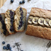 Blueberry Chia Jam Stuffed Oatmeal Banana Bread (gf)