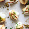 Peach Caprese with Mint, Pistachios, and Honey