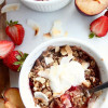Plum Strawberry Coconut Oatmeal Crisp (gf)