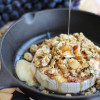 Baked Brie with Honey Rosemary Thyme Granola