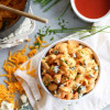 Lightened-Up Buffalo Chicken Mac and Cheese