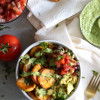 Crispy Plantain & Egg Breakfast Bowls with Avocado Chimichurri