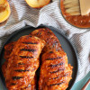 Peach Bourbon BBQ Grilled Chicken