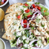 Greek Grilled Chicken Salads with Tzatziki Dressing