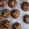 Salted Triple Chocolate Pistachio Cookies