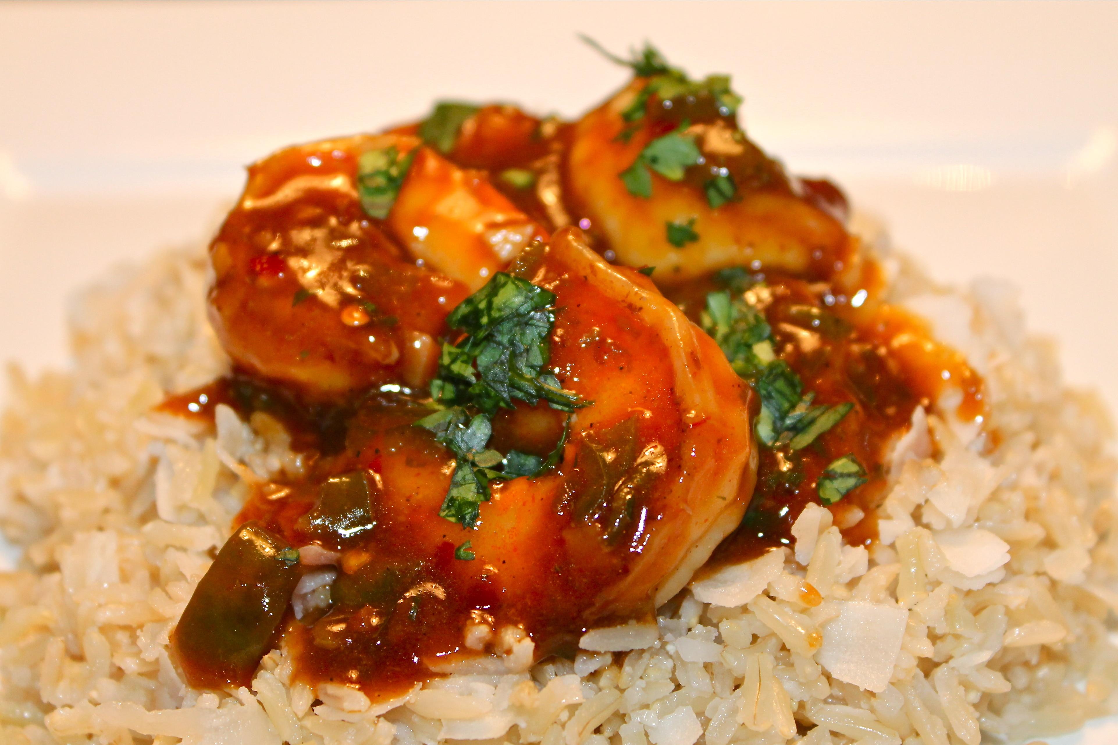 Chili Lime Garlic Shrimp with Coconut Brown Basmati Rice