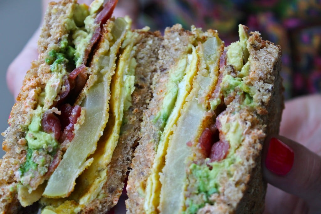 Fried Green Tomato Egg Sandwiches with Applewood Smoked ...