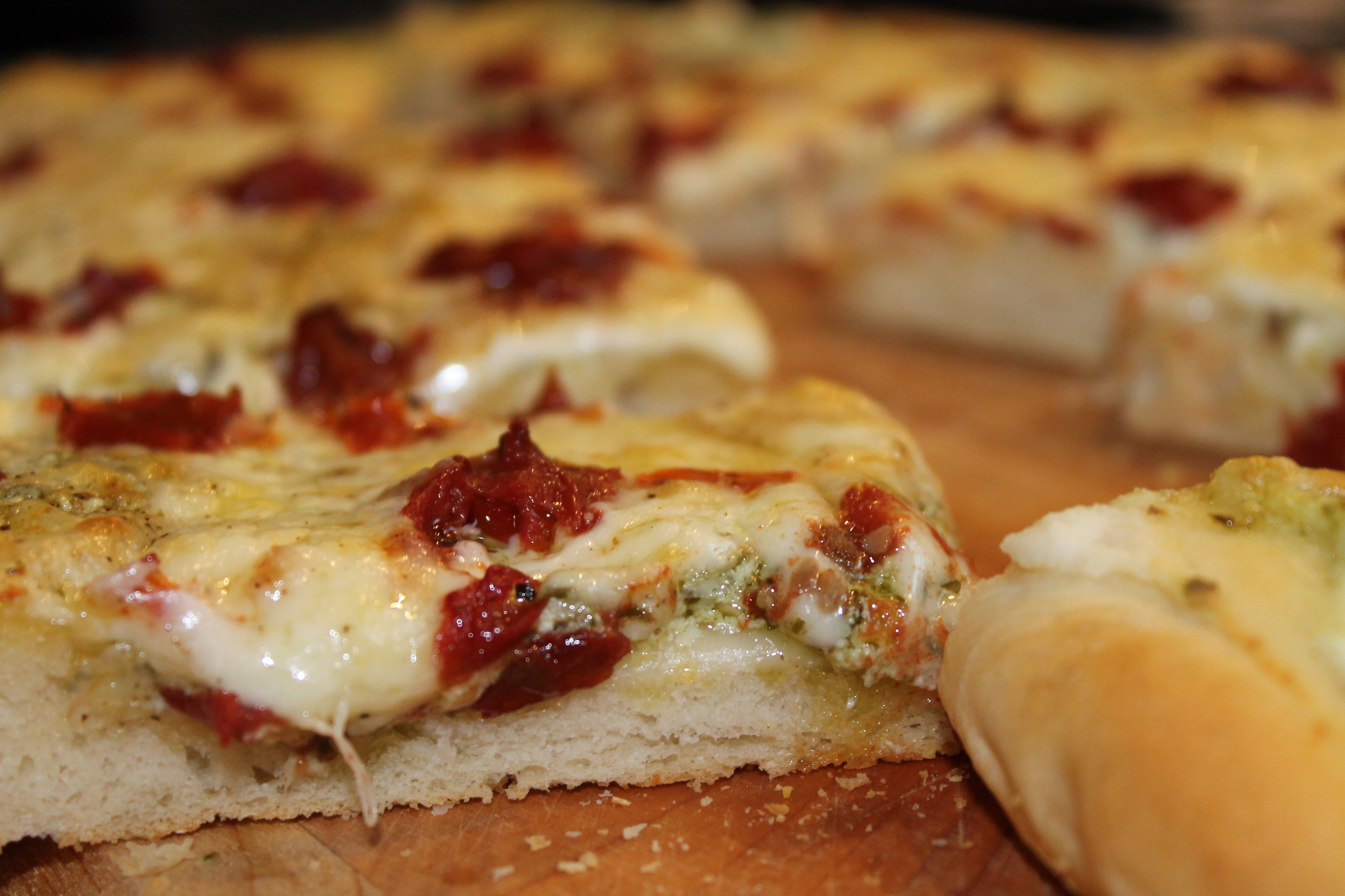 Spices in My DNA | Three Cheese White Pizza with Pesto and ...