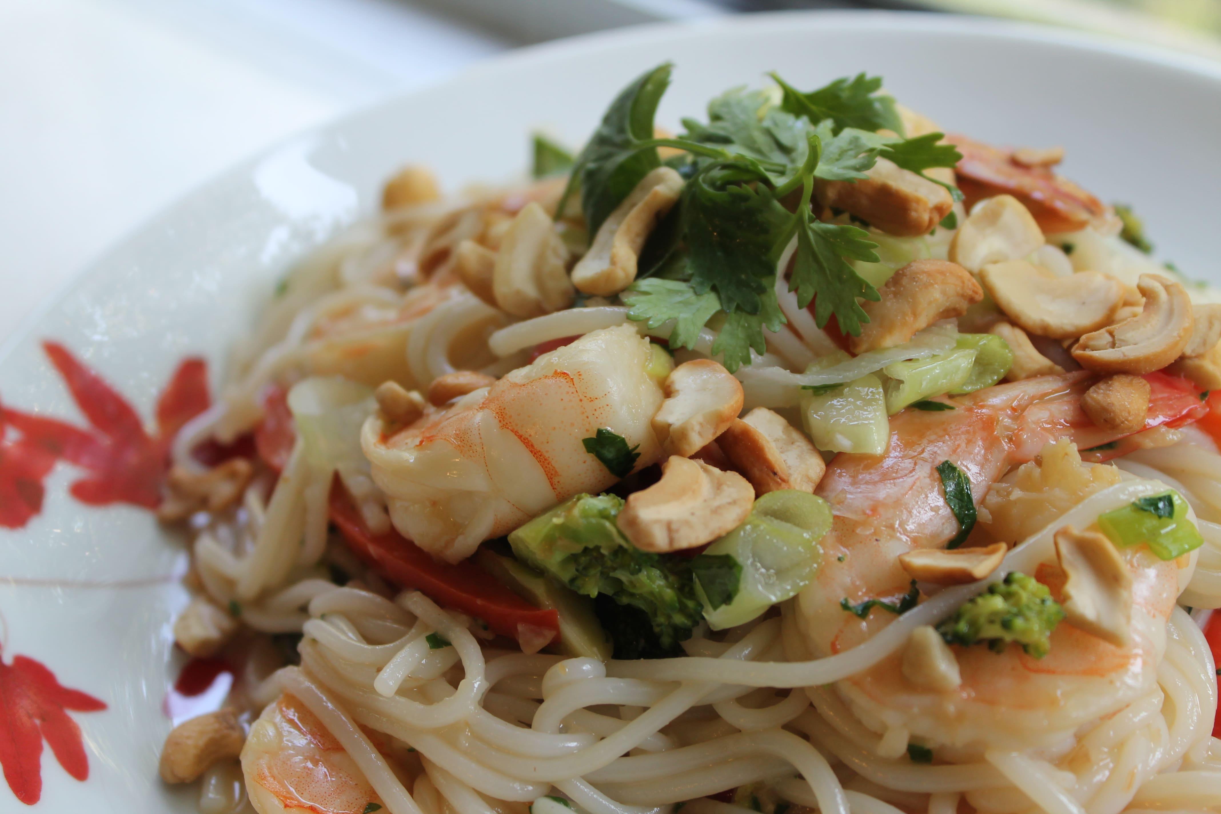 Thai Shrimp and Veggie Noodle Bowls
