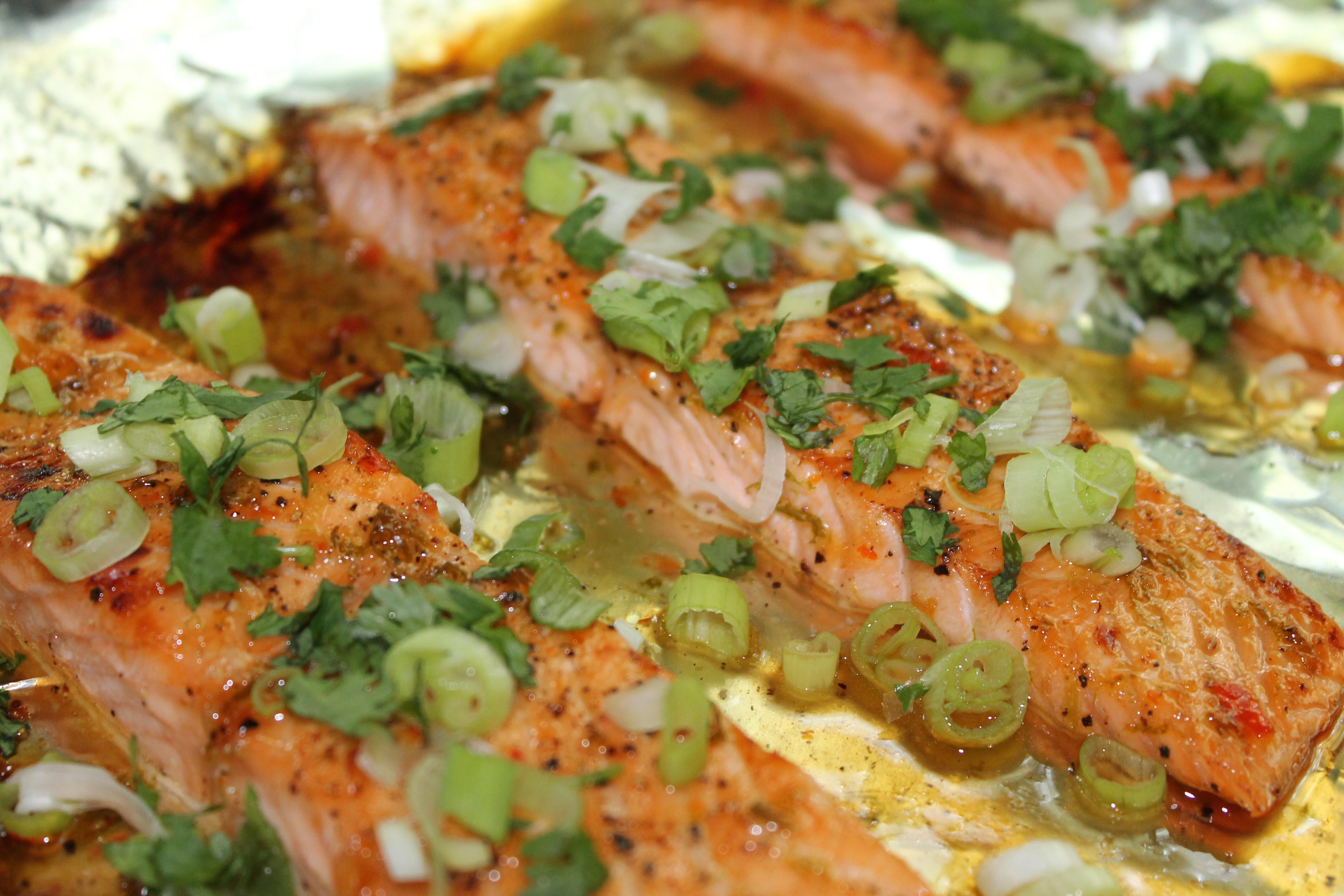 Sweet Chili Honey Lime Salmon