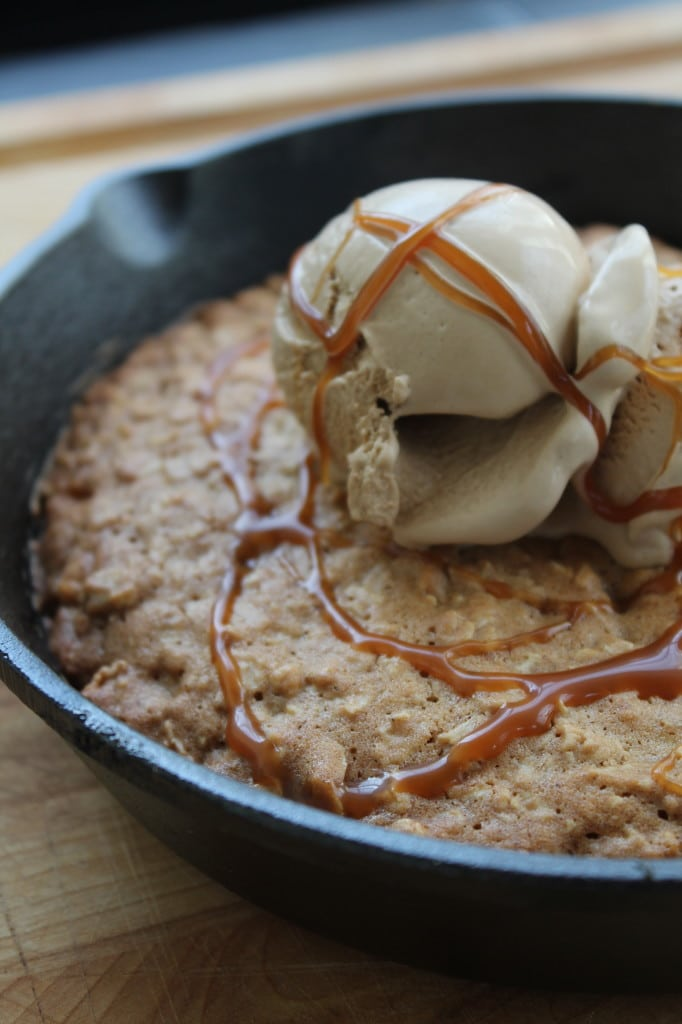 Oatmeal Butterscotch Skillet Cookie Cake