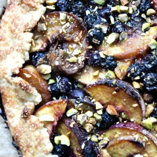 Peach Blueberry Crostata with Honey and Pistachios