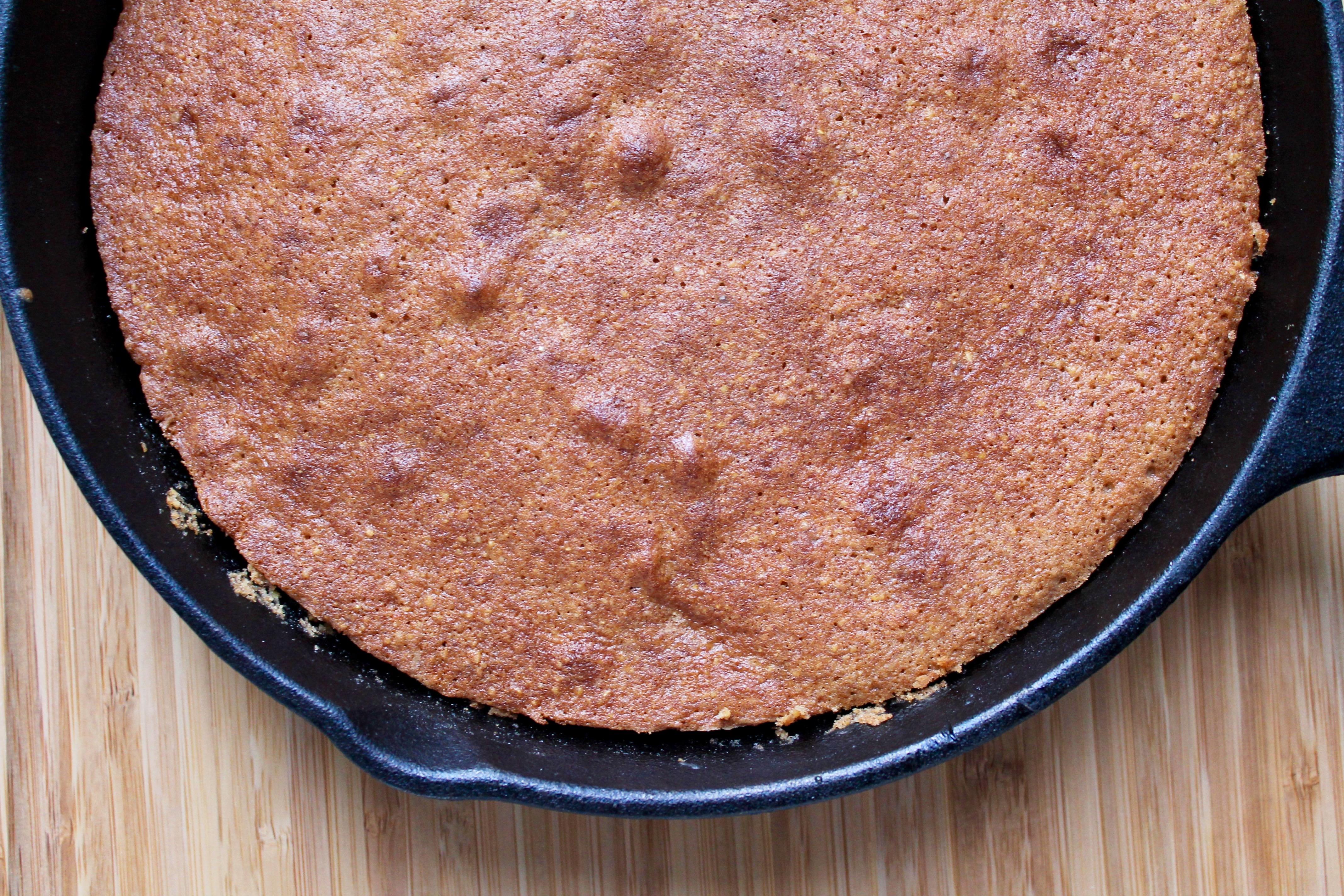 Satsuma Orange Spiced Polenta Upside Down Cake with Honeyed Maple Yogurt