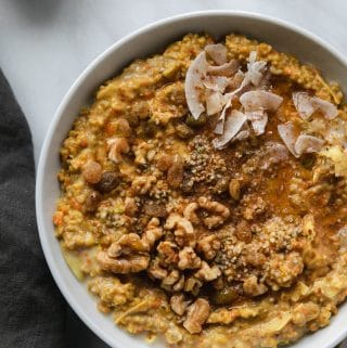 Superfood Carrot Cake Oatmeal