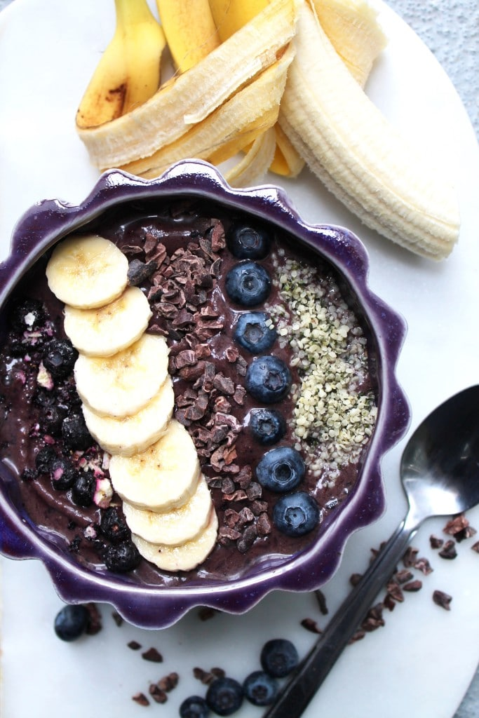 Blueberry Cacao Acai Bowls Spices In My Dna