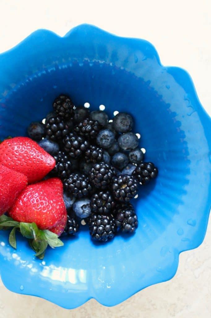 Berry Kale Salad with Blueberry Basil Vinaigrette - Spices ...