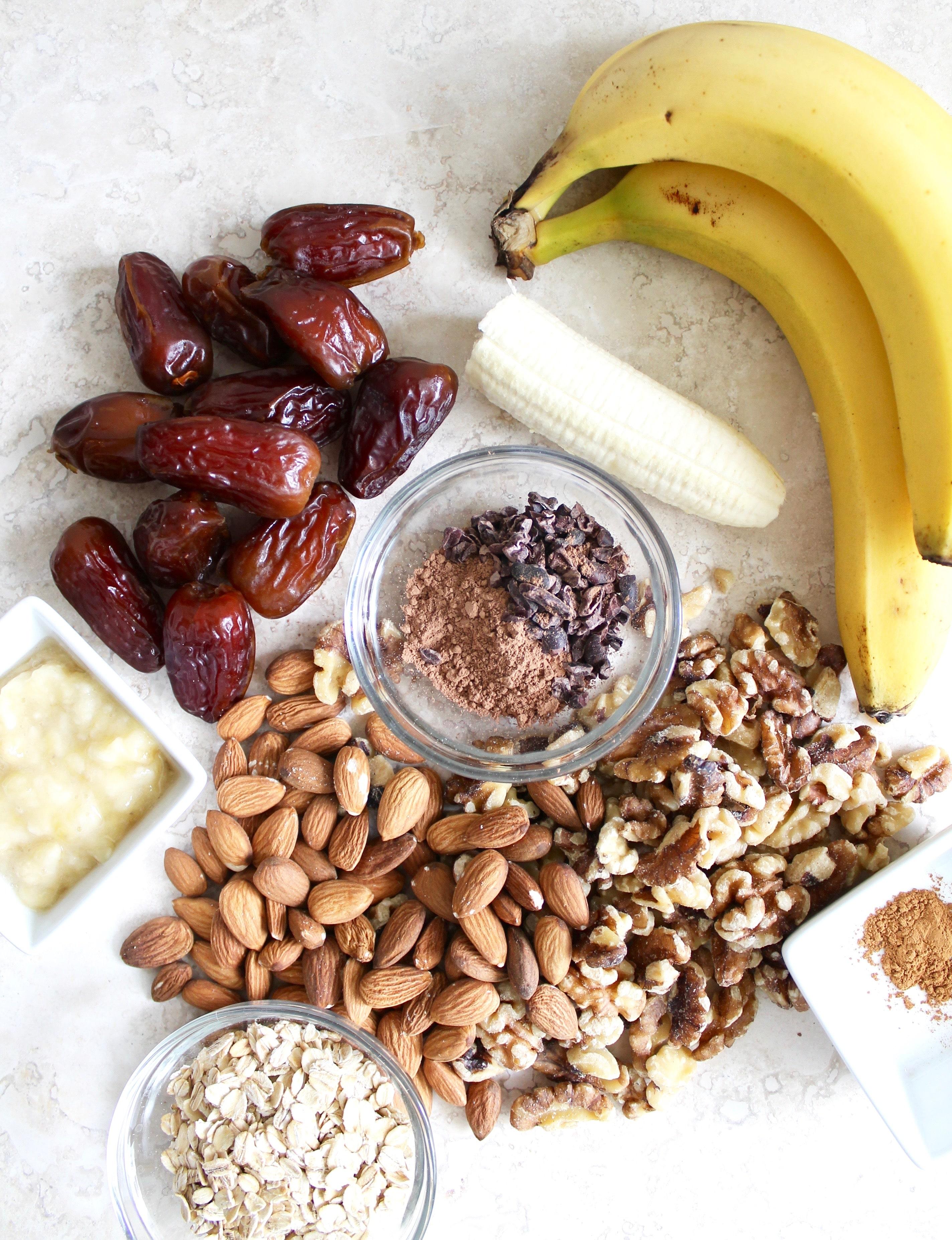 Healthy Chocolate Banana Bread Truffles (v, gf)