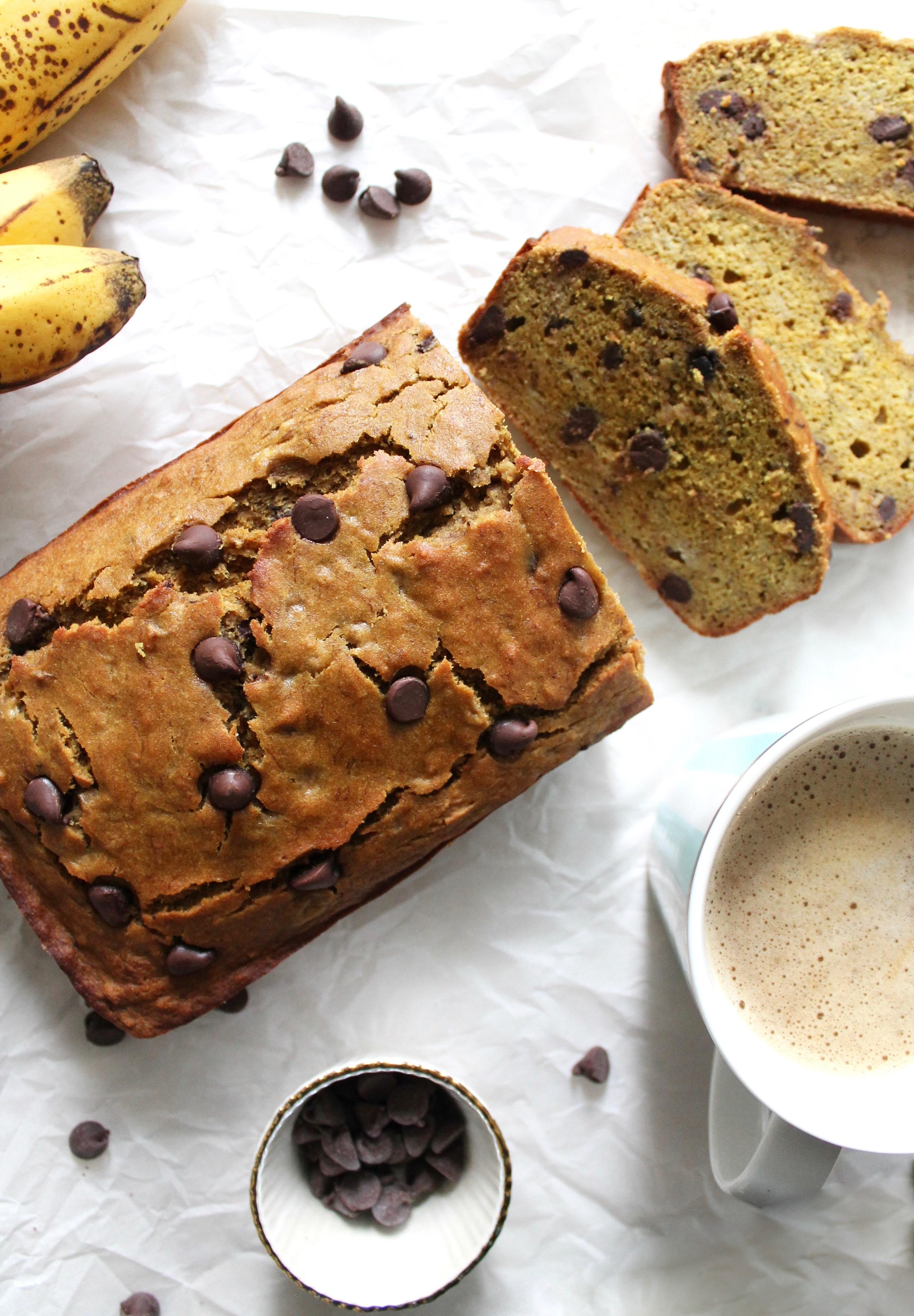 Quinoa Flour Chocolate Chip Banana Bread (gf, df)