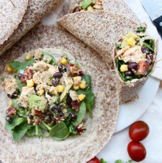 Mexican Chicken Quinoa Salad Wraps