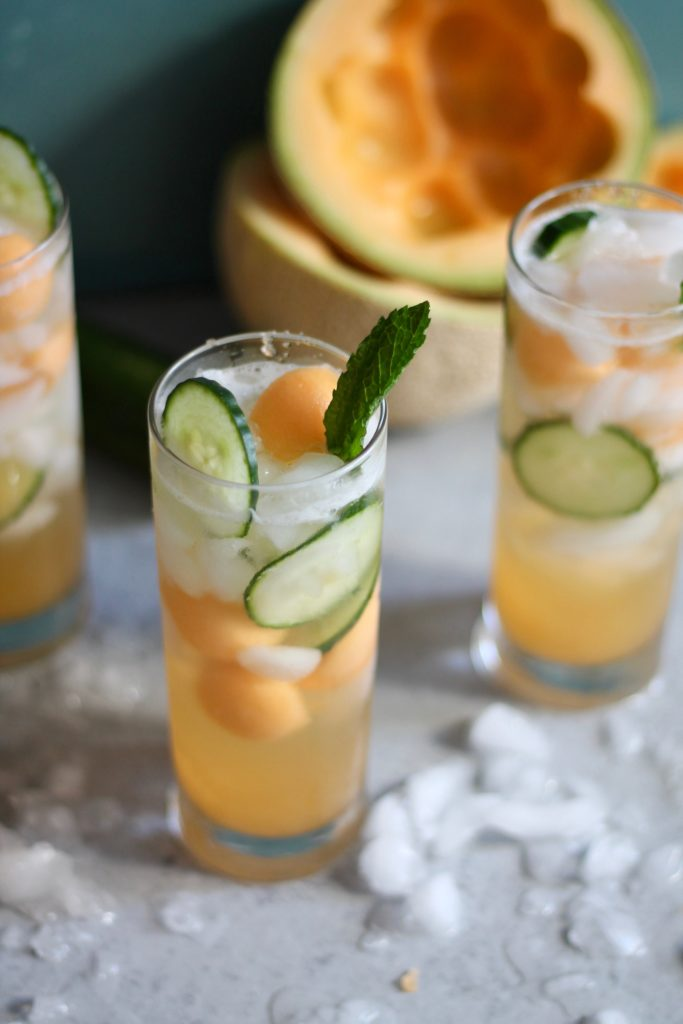 Cucumber melon gin spritzers spices in my dna for Vodka based summer cocktails