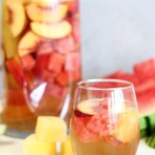 Peach Watermelon Rosé Sangria