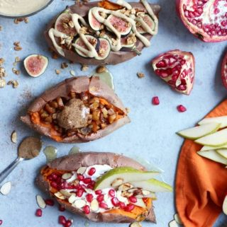 Autumn Breakfast Stuffed Sweet Potatoes – 3 Ways!