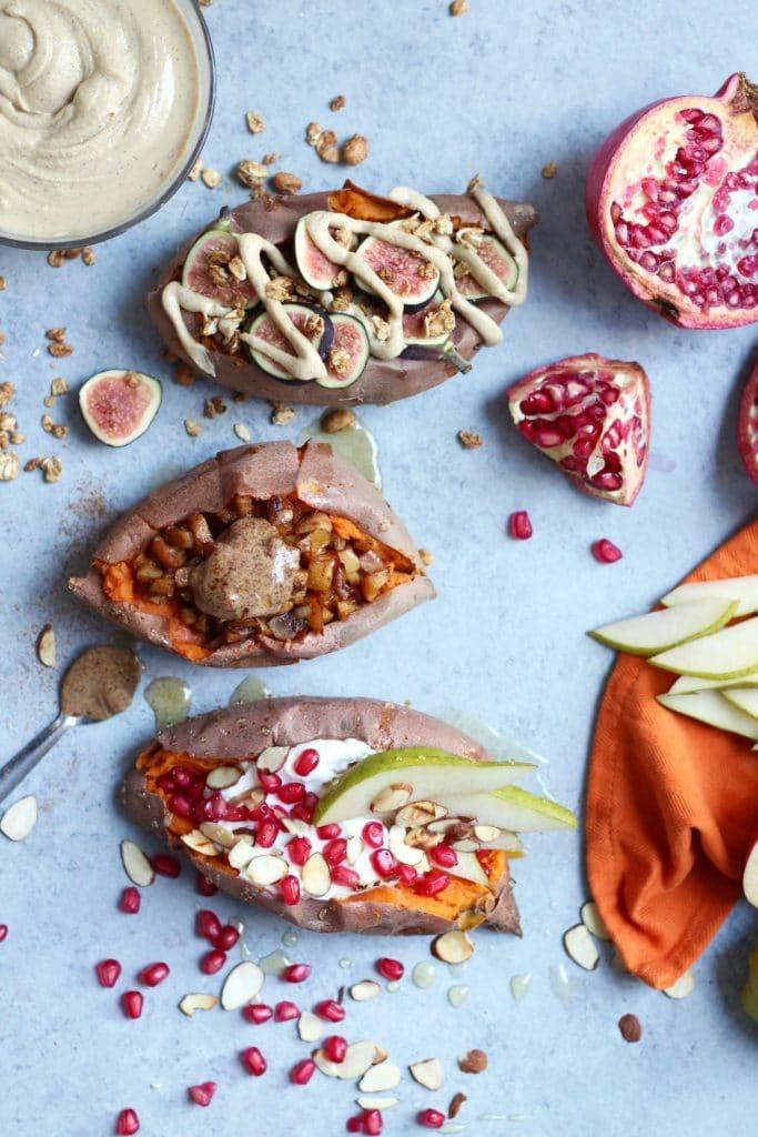 Autumn Breakfast Stuffed Sweet Potatoes – 3 Ways!