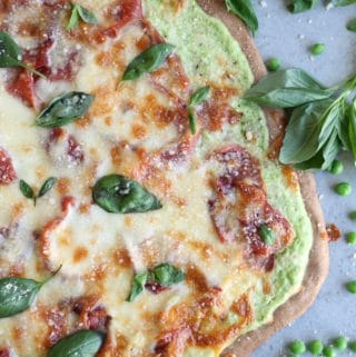 Spring Pizza with Pea Lemon Ricotta and Prosciutto