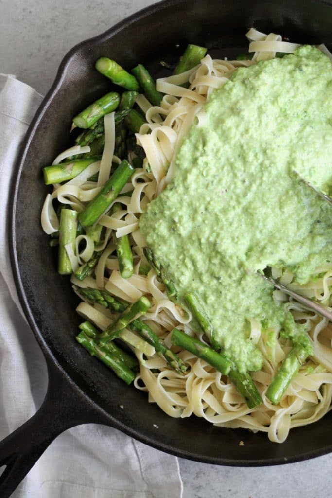 Spring Vegetable Fettuccine with Mascarpone