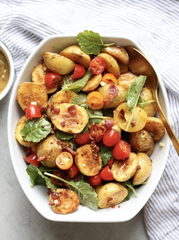 BLT Potato Salad with Honey Mustard Vinaigrette