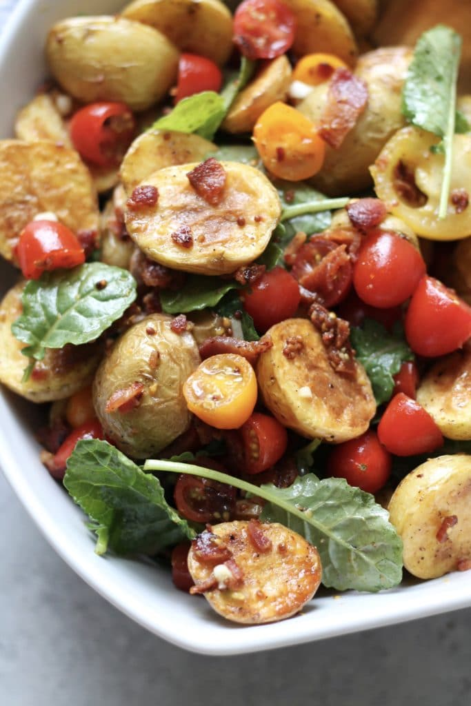 BLT Potato Salad with Honey Mustard Vinaigrette
