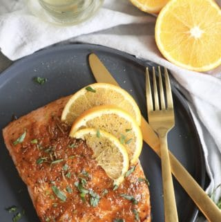 20 Minute Spiced Orange Herb Glazed Salmon