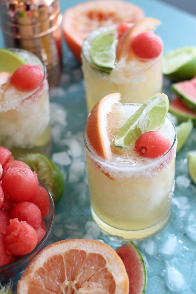 Grapefruit Watermelon Shandy Beergaritas