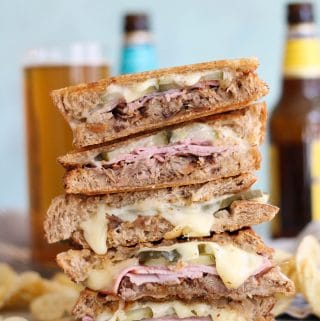 Slow Cooker Pulled Pork Cuban Paninis