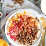 Orange Scented Yogurt Bowls with Apple Pie Granola
