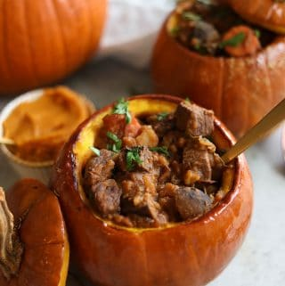 Slow Cooker Pumpkin Beef Stew