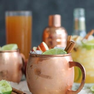 Bourbon Apple Cider Mules (+ a video!)