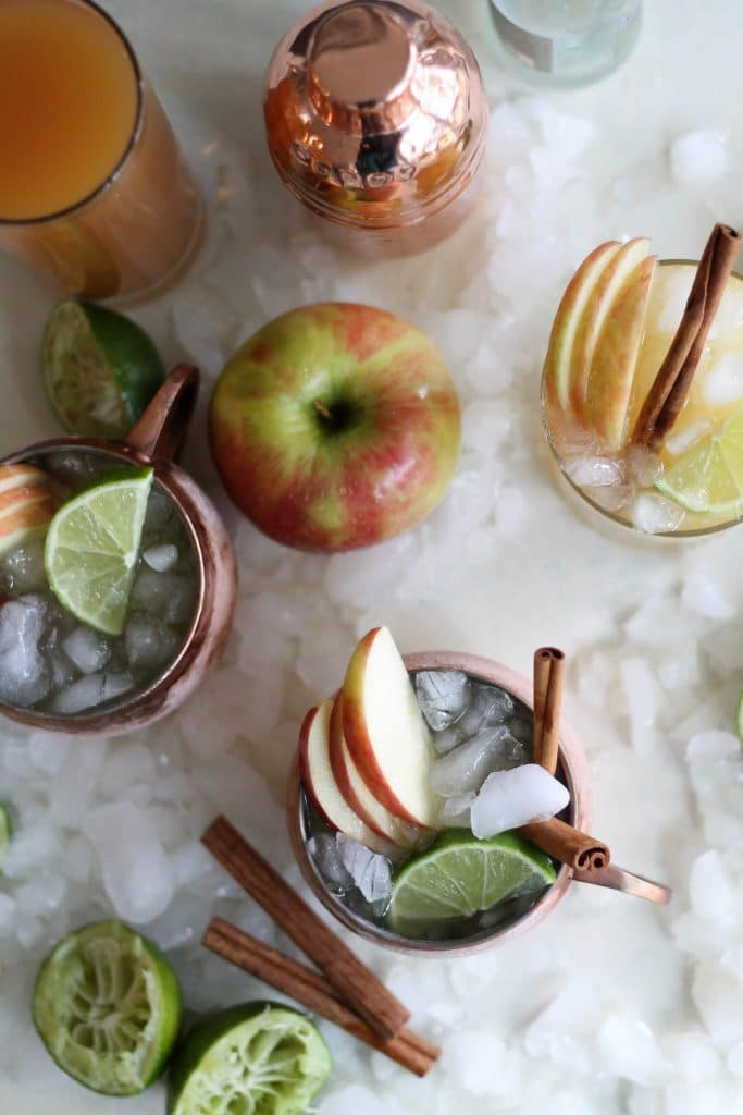 Bourbon Apple Cider Mules