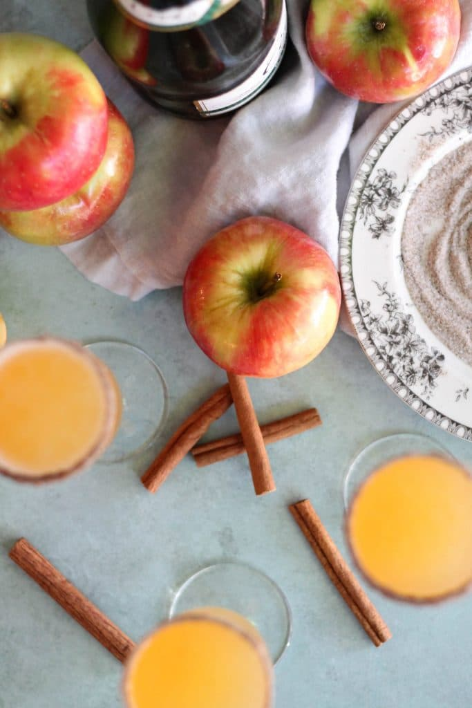 Apple Cider Chai Mimosas