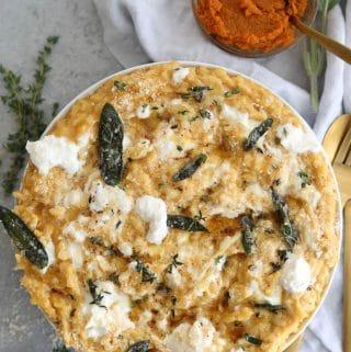 Pumpkin Burrata Risotto