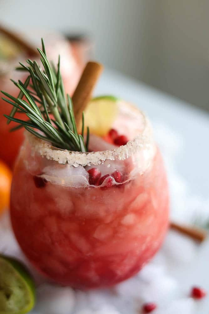 Pomegranate Rosemary Clementine Margaritas